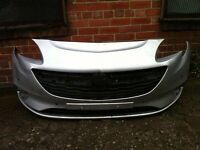 Vauxhall corsa E 2015 2016 genuine silver front bumper for sale with centre grille