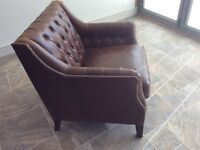 Two lovely real leather armchairs