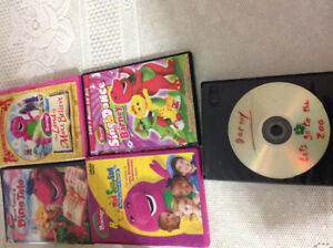 7 Barney DVDs ex co each $2 or all $10