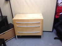 Great quality wood 3 Drawer Bedroom Chest