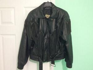 Manteau (Jacket ) de cuir de moto pour dame
