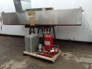 12' STAINLESS STEEL EXHAUSE HOOD & FIRE SUPRESSION