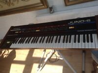 ROLAND JUNO 6 synthesiser with keyboard Combo ....