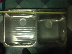 Lavabo/évier double de cuisine en stanless