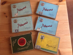 "A ""LOT"" of VINTAGE- ""PLAYERS"", ""LUCKY STRIKE"", ""BLACK CAT"" TINS"