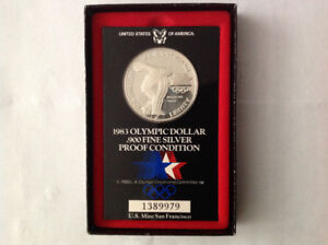 1984 U.S.A.Olympic Silver .900 Proof Coin