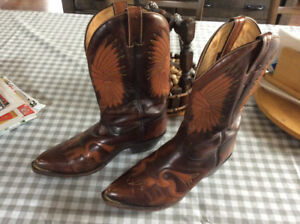 Bottes de cowboy Boulet / Western leather boots