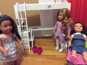 American girl and two Journey Girl dolls