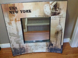 New York square mirror