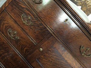 Antique Oak Tallboy Dresser Prince George British Columbia image 2