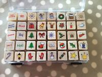 Mini Christmas Stamps new and in their own case
