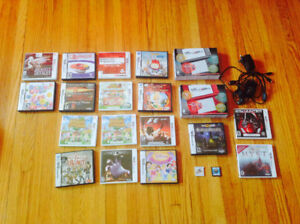 X2 Nintendo 3ds xl game systems with 19 games and x2 chargers