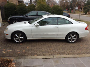 White Mercedes CLK 320 For Sale!