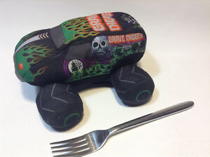 """Monster Jam GRAVE DIGGER Plush Stuffed Toy 9"""" With sound effects"""