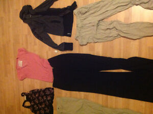 65 pcs of clothing all kinds of brands toys, bottoms, coat etc