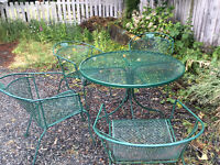 Wrought Metal Table and Chairs