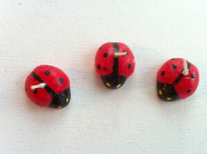Lot of 6 Lucky Ladybugs Beetle Shaped Candles Red & Black Peterborough Peterborough Area image 3