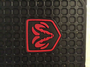 DODGE RAM TRUCK CAR FLOOR MATS FACTORY LOGO STYLE BLACK RED RAMS