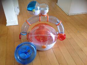 Cage à hamster et litière