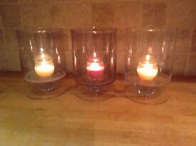 Three Hurricane Lanterns