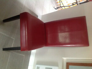 Chaise rouges