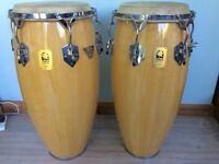 Toca Kamen congas for sale with stand and hard cases