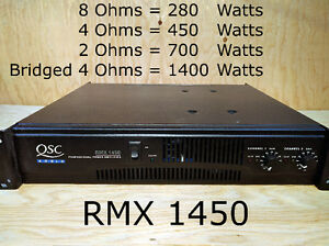 Amplificateur QSC RMX 1450 power amp