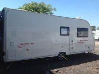 Fixed bed four berth caravan