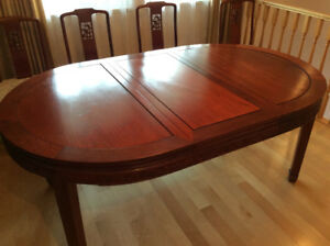Beautiful Oriental Rosewood Dining set for sale!!
