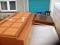 FREE - double bed in good condition and large display unit for collection.
