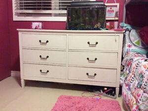 Solid wood white dresser