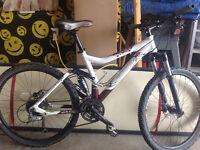 Women's full suspension Scott Contessa mountain bike