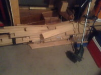 About 40 square feet of red oak hardwood