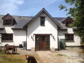 3 bedroom semi detached country home with large gardens. Spreyton. Devon.