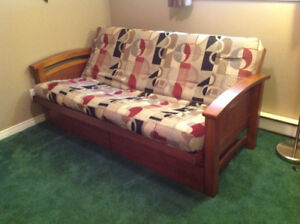 Savanah Futon Double Walnut Frame