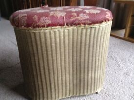 Lloyd Loom Linen Basket