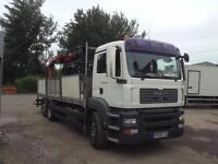 MAN TG-A 26 320 BRICK CARRIER 24 FT BODY WITH CAGE DROPSIDES