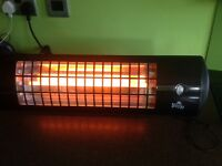 Firefly 1.8kw wall mounted quartz bulb infrared heater with three settings
