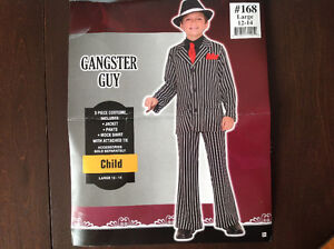 Comme neuf ! Costume d'Halloween gangster - Gr. Large 12-14