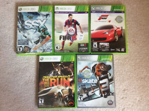 5 Xbox 360 games in mint condition, all for $40