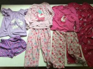 Size 4 pyjamas for a little girl