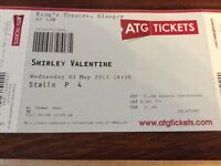 Shirley valentine tickets x2 Glasgow