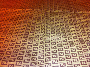 Fendi fabric thin flexible vinyl 36x54inches