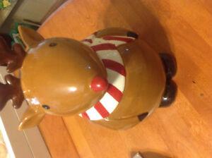 Reindeer cookie jar