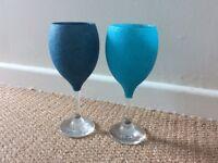Beautiful glittery wine glasses