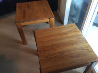 Two Solid Oak tables