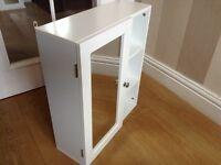 White single mirror bathroom cabinet unused