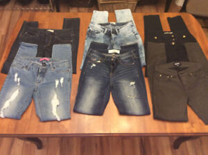 SIX PAIRS OF JEANS