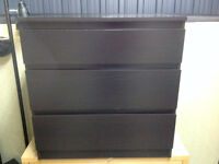 IKEA MALM 3 Drawer Bedroom Chest