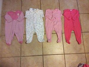 12 Baby Girl Sleepers Kitchener / Waterloo Kitchener Area image 2